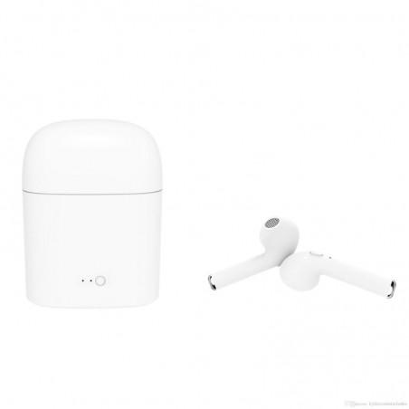 Draadloze in-ear oordopjes met microfoon en oplader - wit