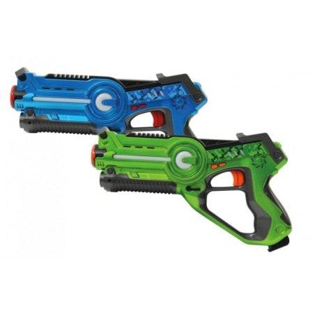 Lasergame Pistolen Set - Blauw - Groen