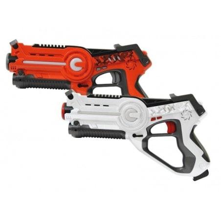 Lasergame Pistolen Set - Oranje - Wit