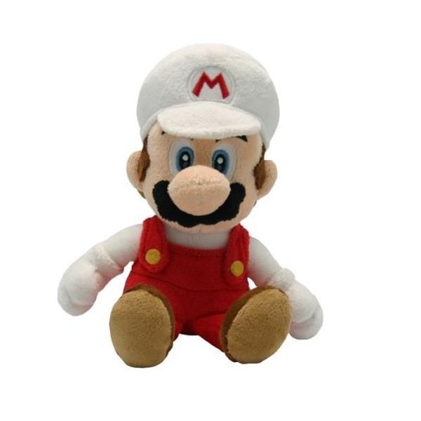 Super Mario Plushfiguur Fire Mario 21cm