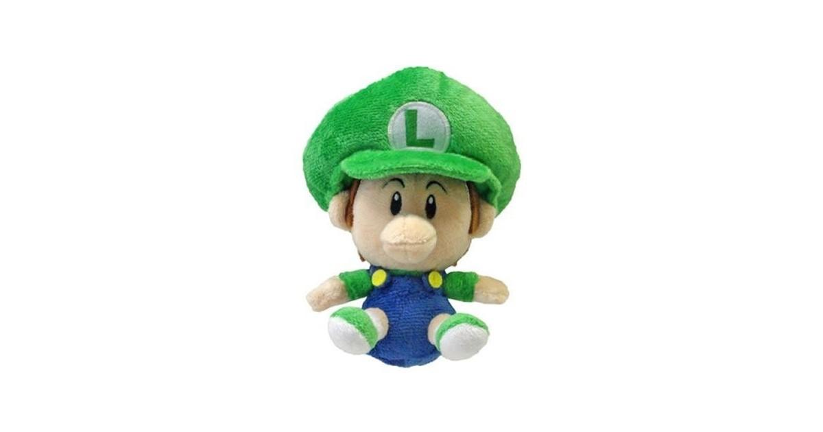 Super Mario Plushfiguur Baby Luigi 13cm