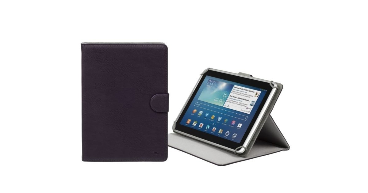 "RivaCase 3017 violet tablet case 10.1"" voor oa Apple iPad Air 2  / Samsung Galaxy Tab4 10.1"