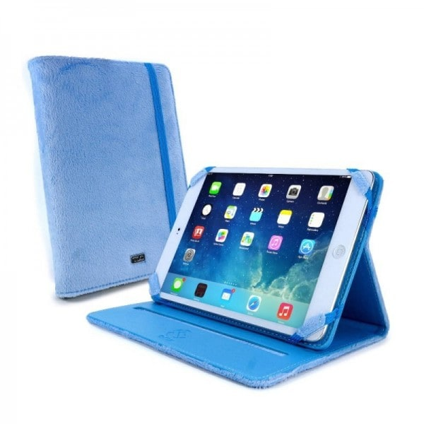 Tuff-Luv Slim-Stand Fluffies case cover for 7 inch tablet inc Kindle Fire HD / HDX blauw