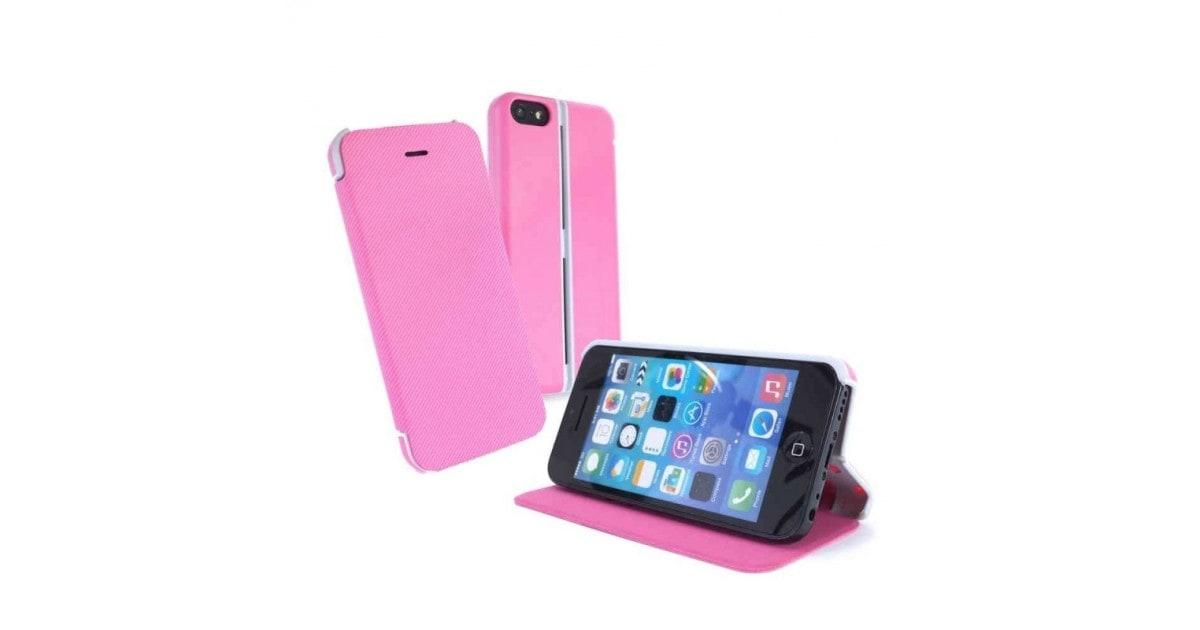 Tuff-Luv Slim-stand case iPhone 5c roze