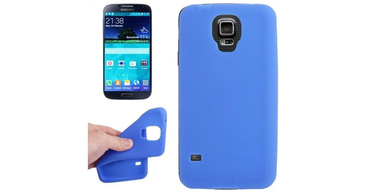 Tuff-Luv Silicone Gel Skin Case Cover voor de Samsung Galaxy S5 blauw