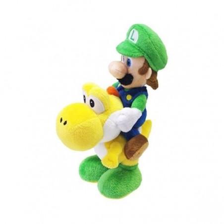 Super Mario Bros Luigi / Yoshi pluche knuffel 22 cm