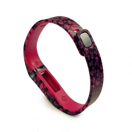 Tuff-Luv Bandje Voor Fitbit Flex Groot - Skalet Rood