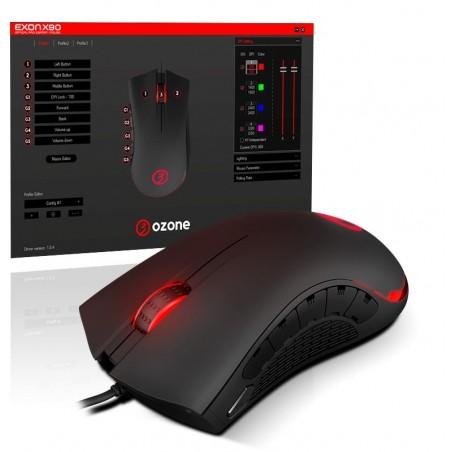 Ozone Exon X90 optische gaming muis 12000 Dpi - eSports grade