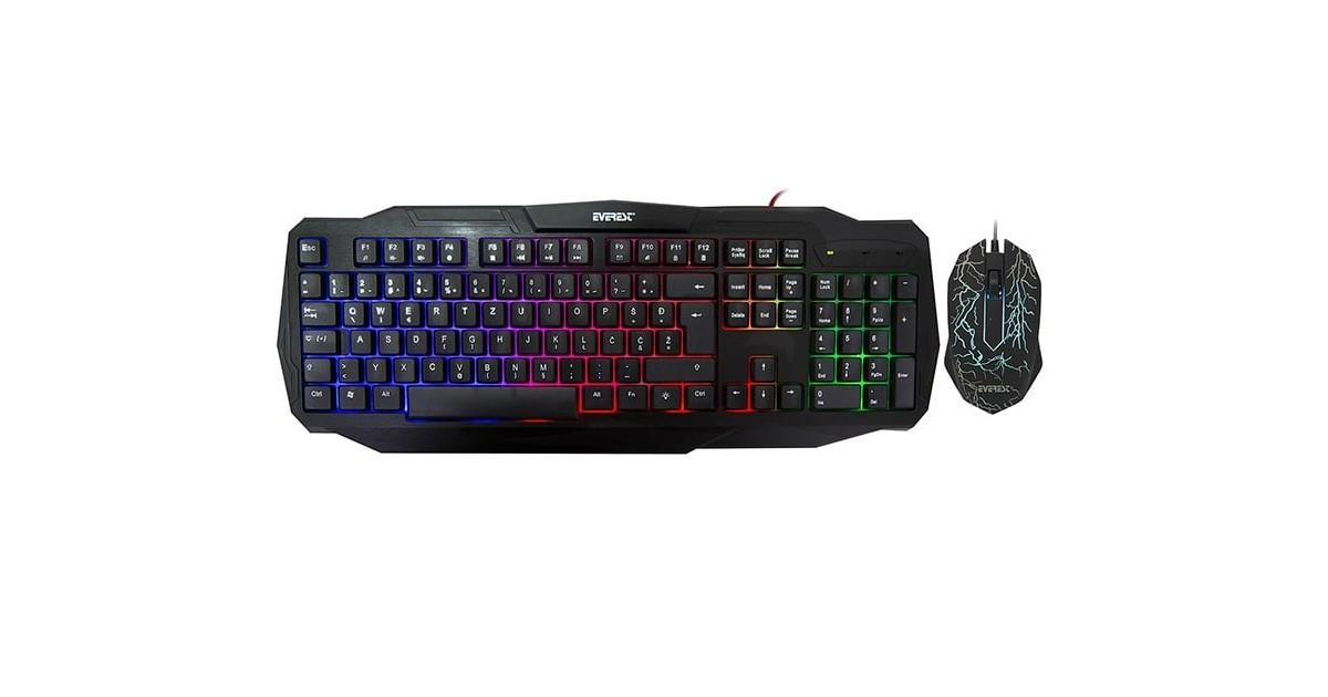 Everest KMX-86 Olivine gaming muis en toetsenbord combo
