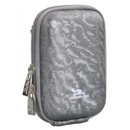 Rivacase 7022 (PU) Digital Case grey shiny wave