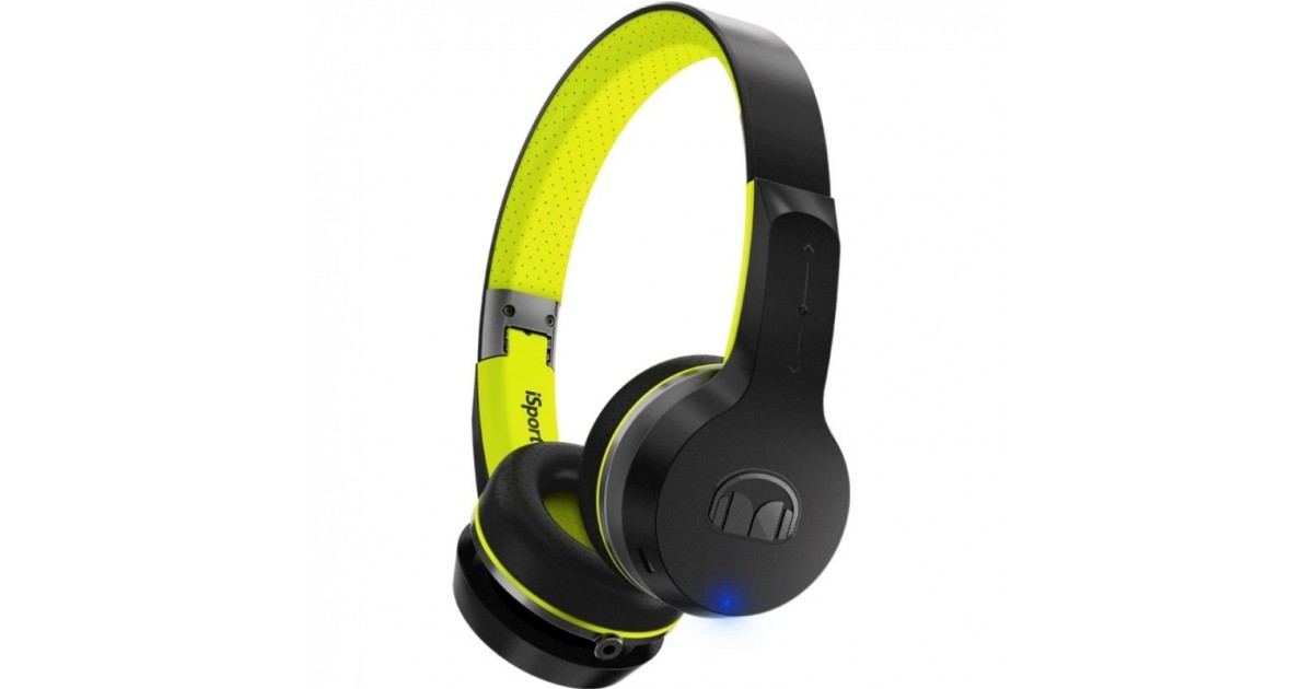 Monster iSport Freedom - Draadloze On-Ear Sport Koptelefoon - Zwart-Groen