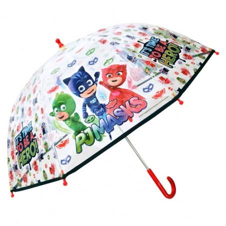 PJ Masks - Koepelvormige Kinderparaplu - Diameter 90CM