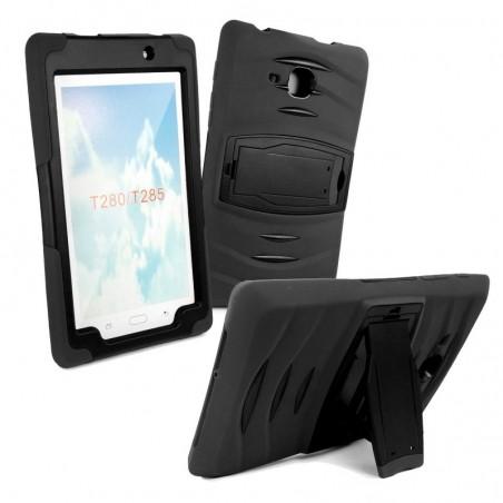 Tuff-Luv - Samsung Galaxy Tab A 7.0 T285 (2016) hoes met standaard - Zwart