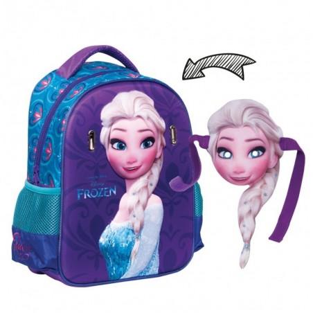 Frozen Elsa - Rugzak - met masker - Kinderen - 31 cm hoog - Paars/Blauw