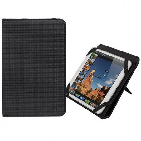 RivaCase Universele Tablet hoes + Standaard 8 Inch (iPad mini 3, Acer) - Zwart