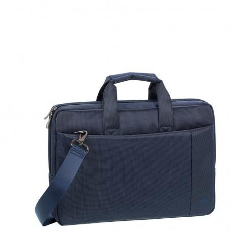 RivaCase - Laptop Schoudertas - 13.3 Inch - Extra vak voor 7 Inch tablet - Blauw