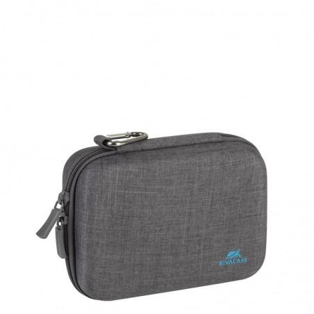 Rivacase - Action camera canvas case voor o.a. GoPro®- grijs- waterafstotend met karabijnhaak