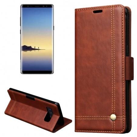 Tuff-luv - Faux leren book-stand case voor de Samsung Galaxy note 8 - bruin