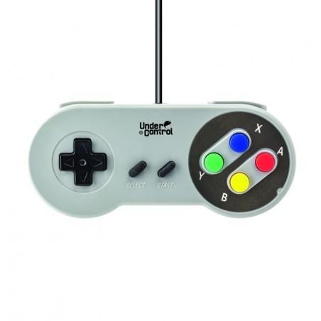 Under Control - Super Nintendo Controller - Bedraad 1,5M - Grijs