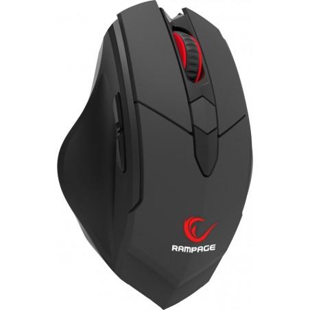 Rampage Hawker Draadloze Gaming Muis SMX-R12 - 4800 DPI- Zwart