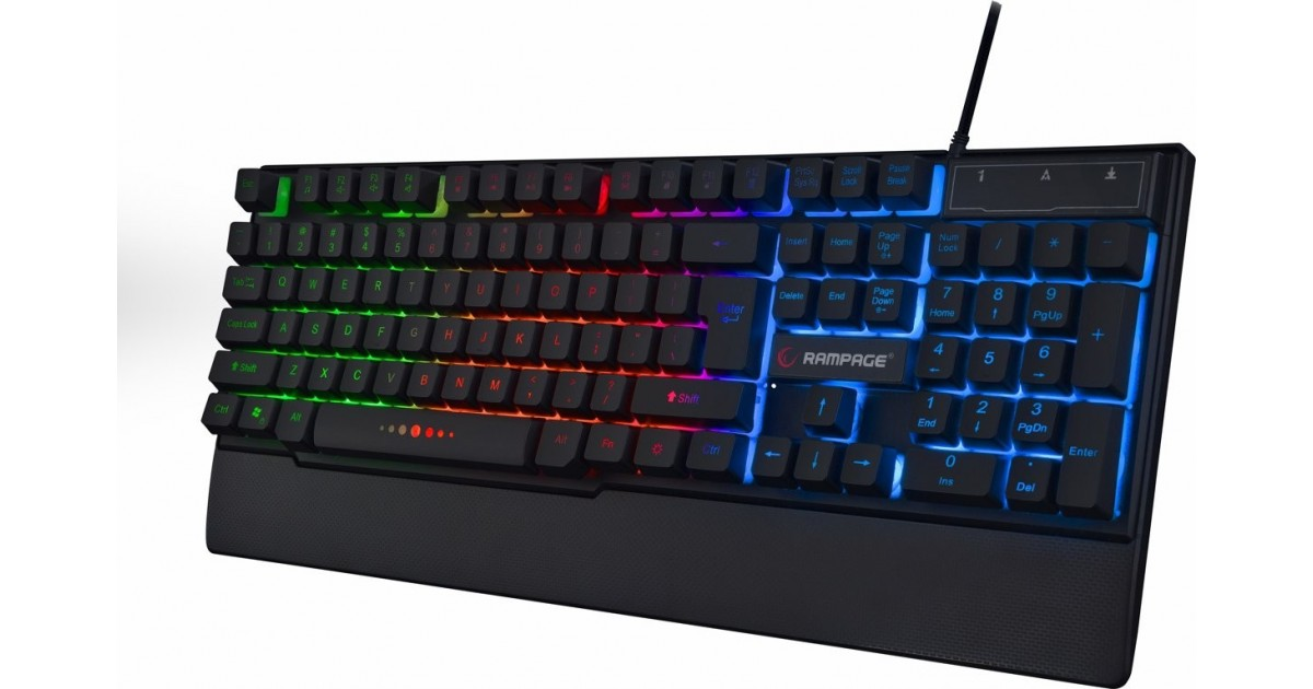 Rampage Gaming Toetsenbord KB-R66 - Rainbow achtergrond verlichting - US Layout - USB