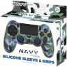 Playstation 4 - Siliconen controller skin inclusief thumbs grips - Navy