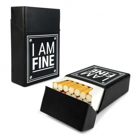 Tuff-Luv - Siliconen Sigaretten doosje (I am fine) - Zwart