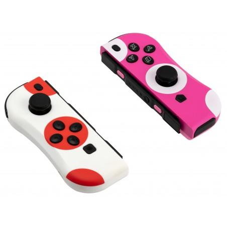 Under Control - Nintendo Switch ii-Con Controller stippen rood-wit en roze-wit