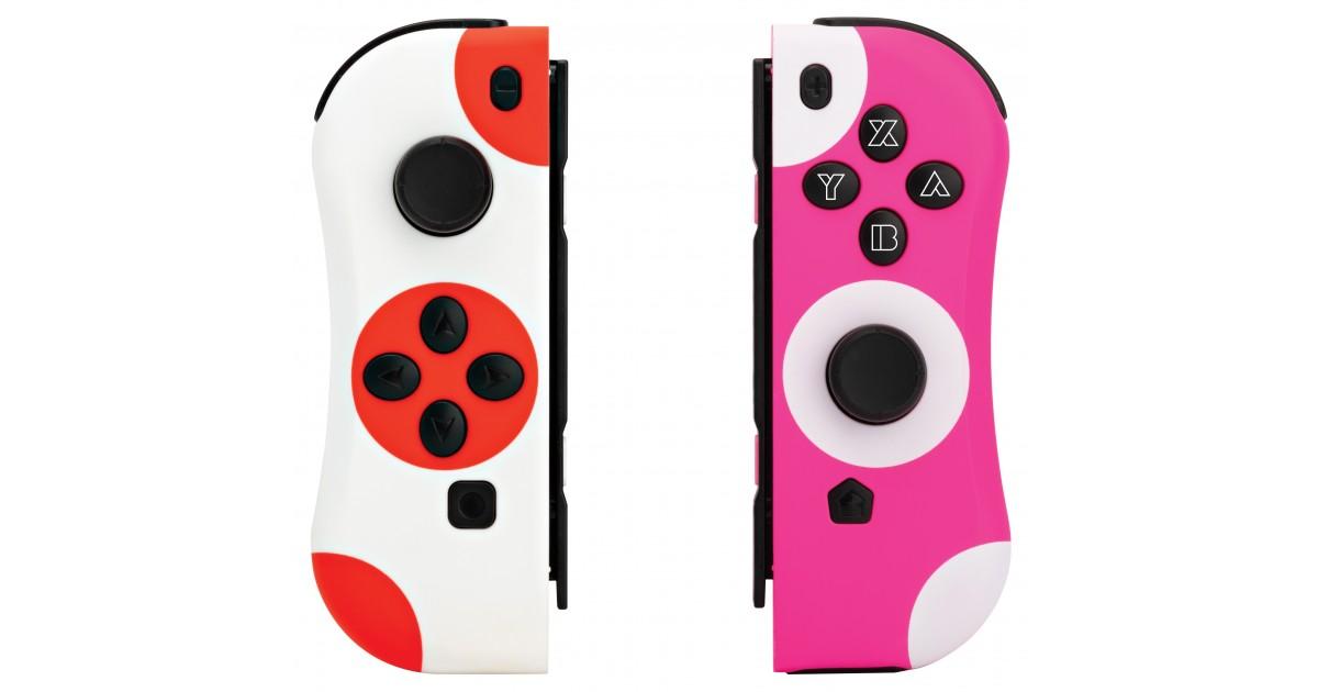 Under Control - Nintendo Switch Joycon Controller stippen rood-wit en roze-wit