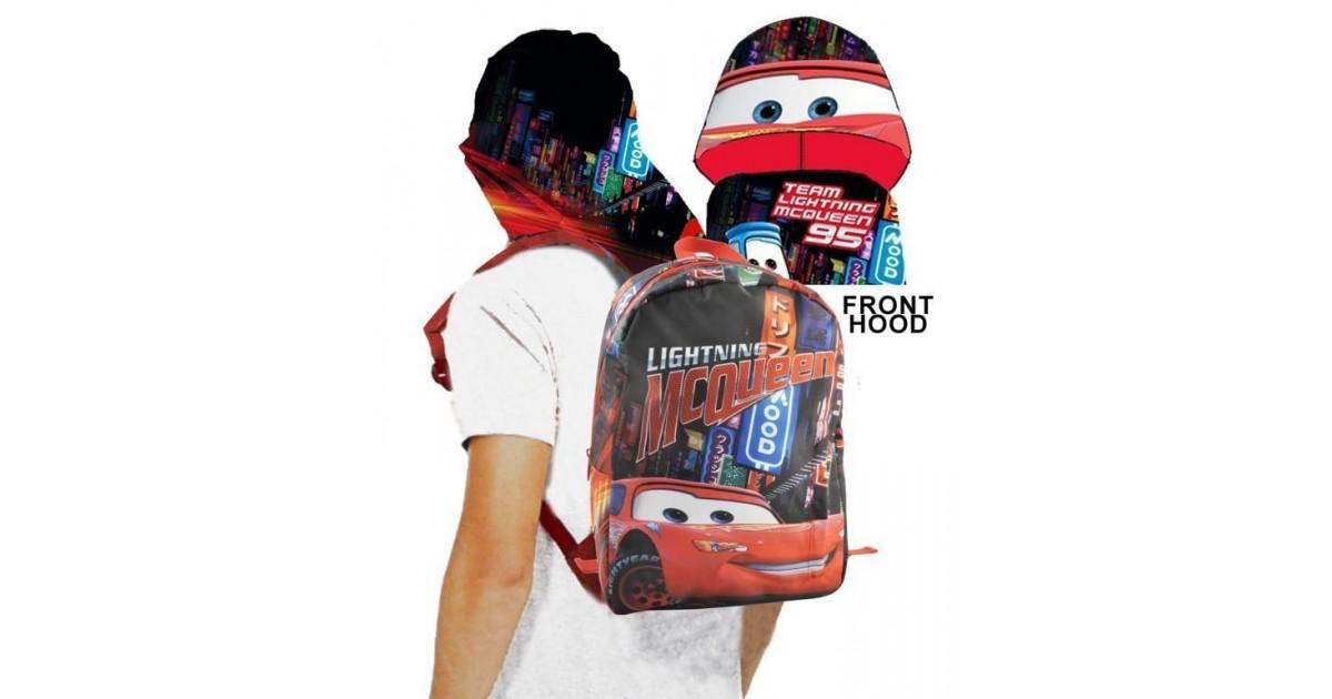 Cars McQueen - Rugzak met Chapuchon -  Rood - 27 cm