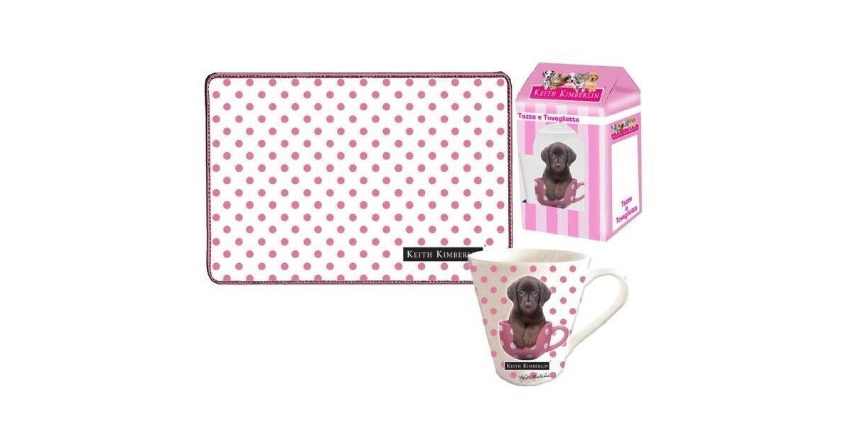 Keith Dogs Gift Kitchen Beker + Placemat