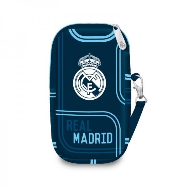 Real Madrid - Tasje voor mobiel - 14 cm hoog -  Blauw