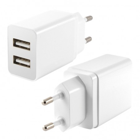 Ksix 2x USB wandlader 2.4A -wit