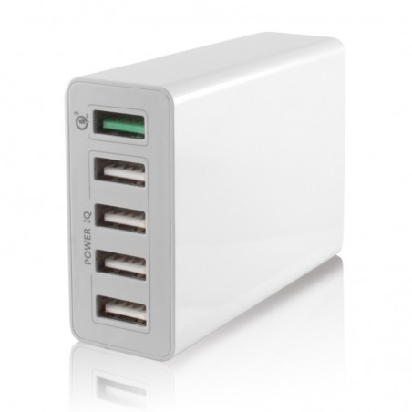 Ksix- 5 USB stopcontact-smart charge- snellader 10A USB 3.0