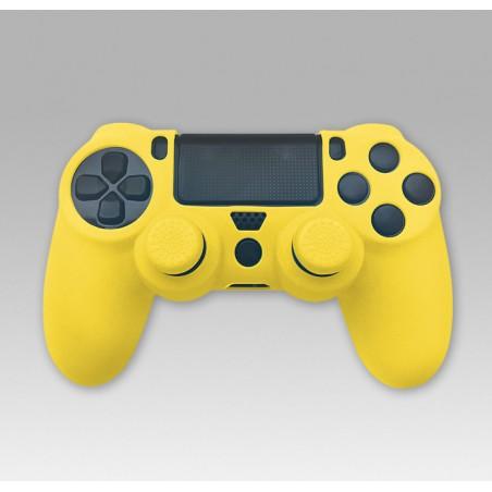 Silicone Skin + Grips (geel) voor PS4