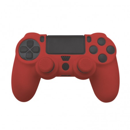 Silicone Skin + Grips (rood) voor PS4