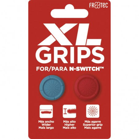 Grips Pro XL - Neon blauw / Neon rood voor Nintendo SWITCH