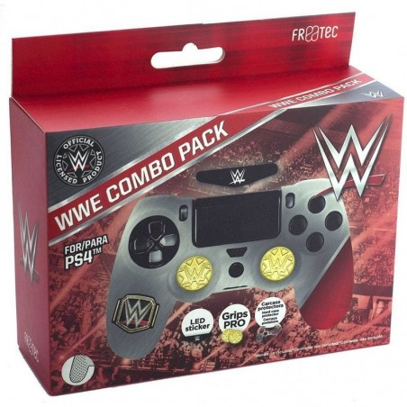 WWE Combo Pack (Case + Thumb Grip + Led Decal) voor PS4