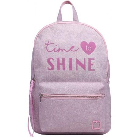 Shine in Pink rugtas - 40 cm hoog