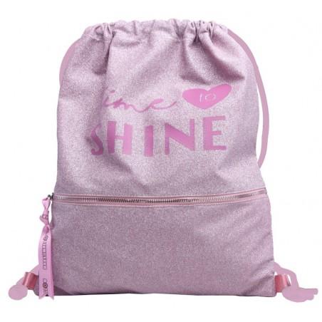 Shine in Pink trekkoordtas 45 cm hoog