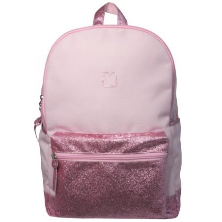 Half Glitter Pink rugtas - 43 cm hoog