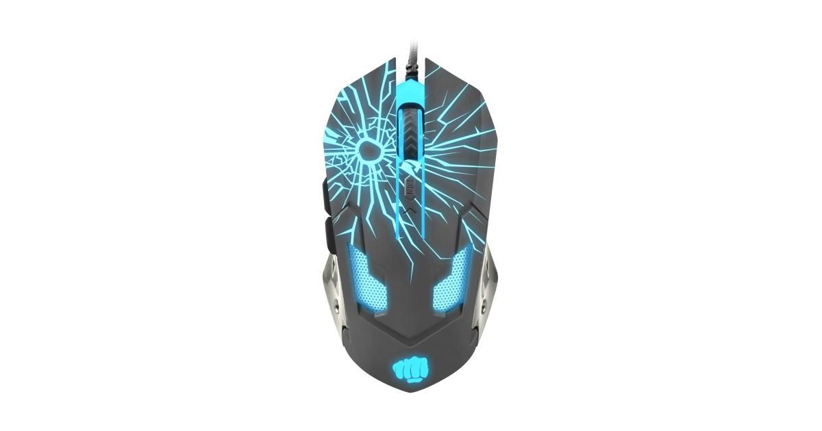 Fury Gladiator - Gaming Muis - Optisch - 3200 DPI - Met LED verlichting
