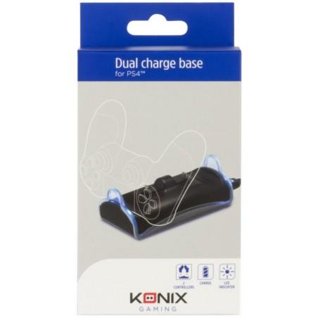 Konix Playstation 4 Dual Charger - Dubbele oplader - Zwart