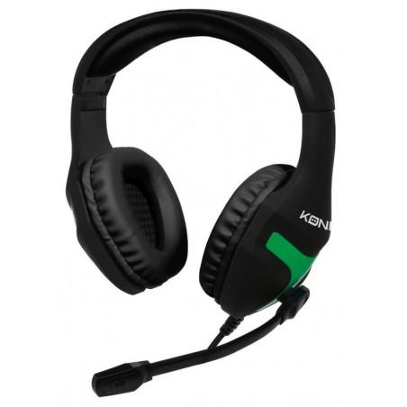 Konix - Gaming Headset MS-400 - Xbox one - Zwart - Groen