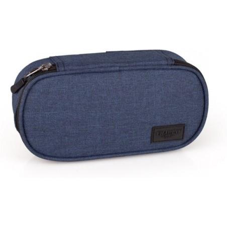 Etui - Polyester - Ovaal - El Charro Blue - Unisex - 21 cm - Blauw