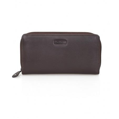 Delbag - Leren Dames Portemonnee met rits - Zwart