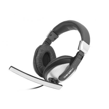 Natec Crane - Headset - Zwart/Zilver