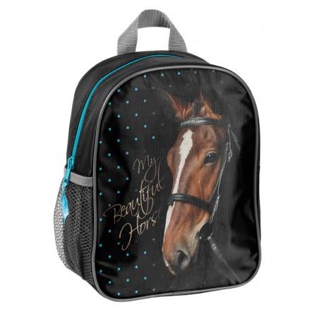 Rugzak - My Beautiful Horse - voor Meisjes - 28 cm - Blauw