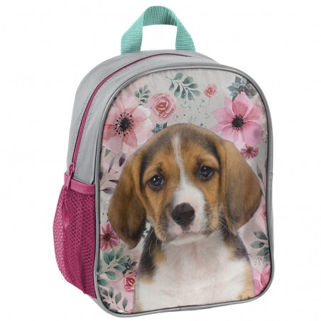 Rugzak - Beagle - voor Meisjes - 28 cm - Roze
