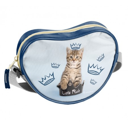 Rachael Hale - Schoudertas - Hartvorm - Royal Kitten - 18 cm - Blauw
